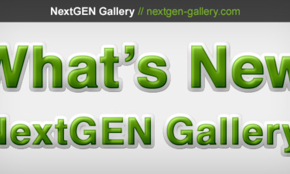 NextGEN Gallery 2.0.7 Now Available