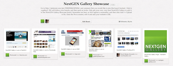 Share Your NextGEN Gallery On Pinterest