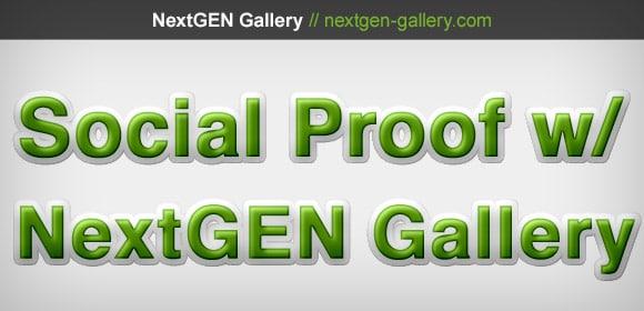 Social Proof With NextGEN Gallery