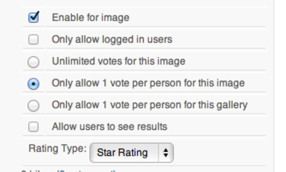 Adding Functionality: NextGEN Gallery Voting Premium