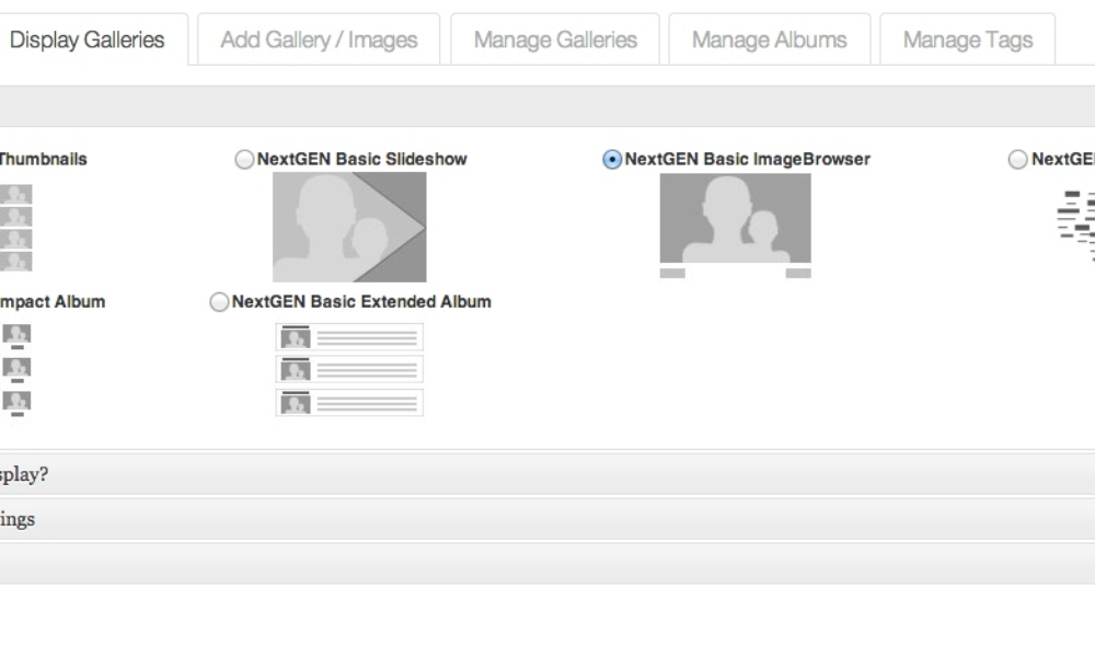 Meet NextGEN Gallery 2.0?s New Interface