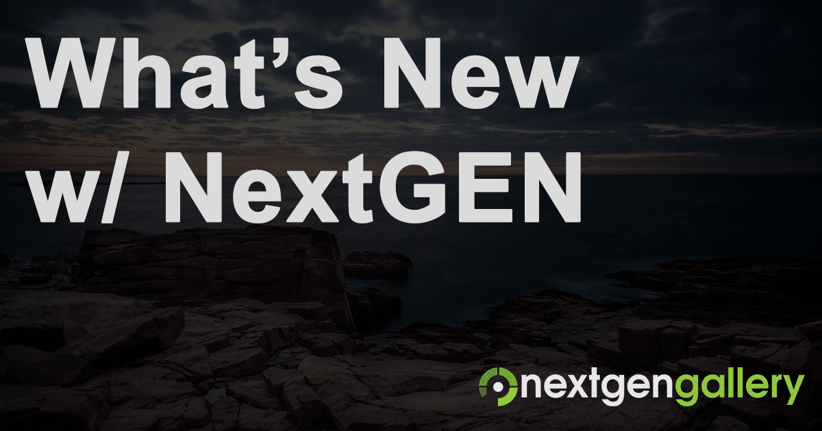 NextGEN Gallery 2.1.0 Now Available