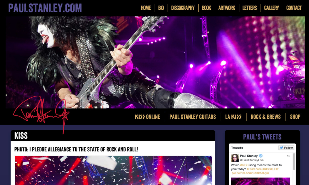 In Action – Paul Stanley