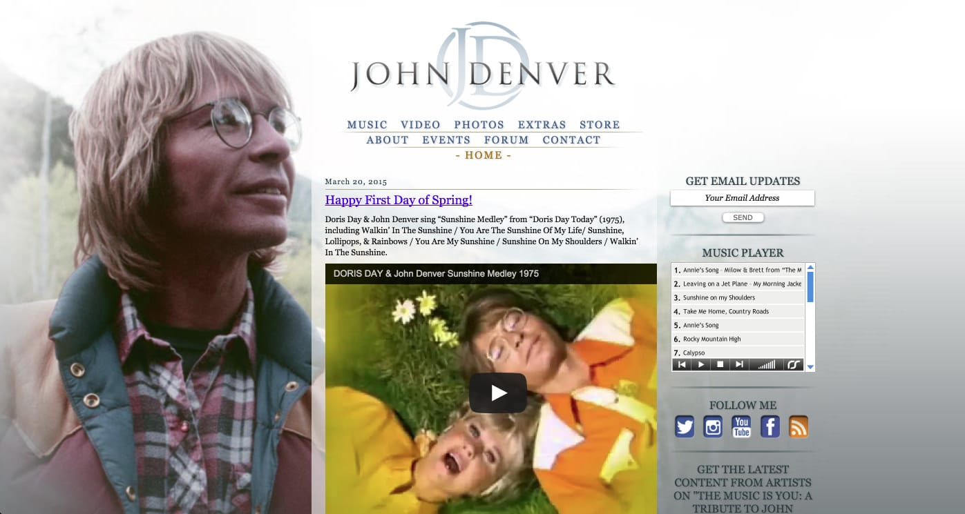 In Action - John Denver