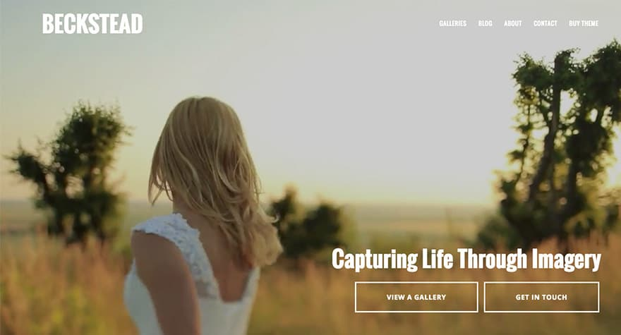 Beckstead WordPress Photography Theme