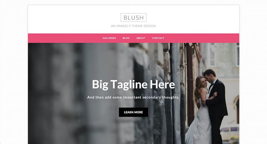 Blush WordPress Theme for Photographers