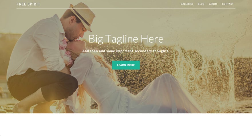 Free Spirit WordPress Theme for Photographers