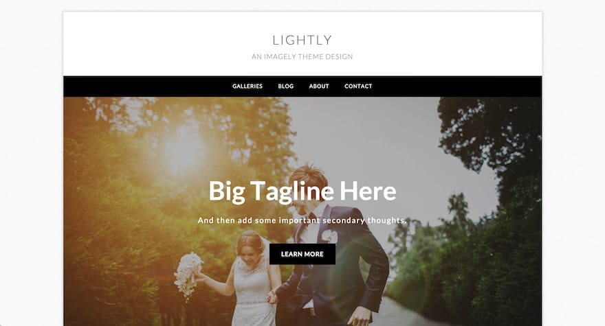 Lightly WordPress Photography Theme
