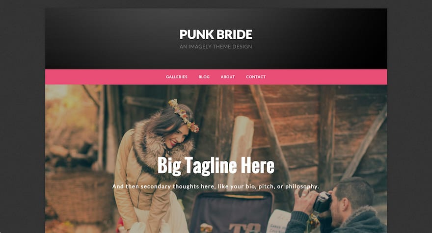 Punk Bride WordPress Photography Theme
