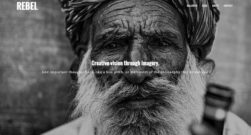 Rebel WordPress Photography Theme