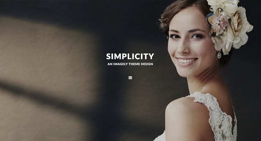 Simplicity WordPress Photography Theme