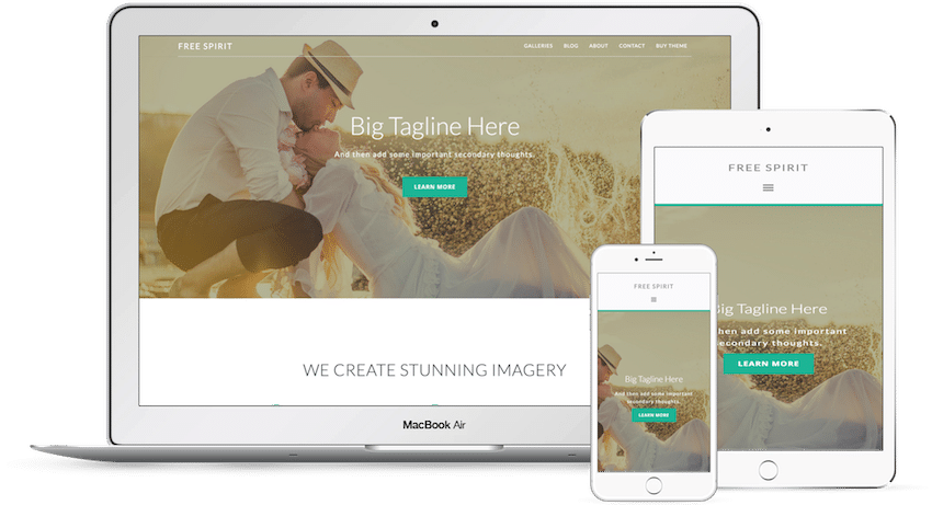 Free Spirit - WordPress Photography Theme