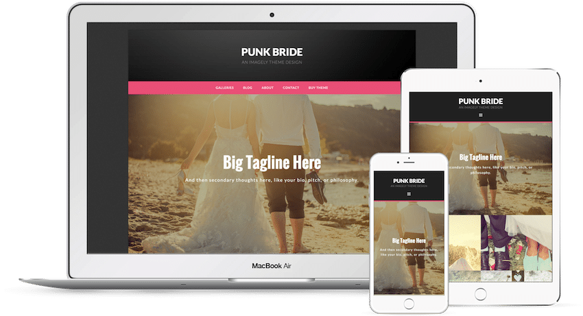 Punk Bride - WordPress Photography Theme