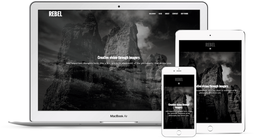 Rebel - WordPress Photography Theme
