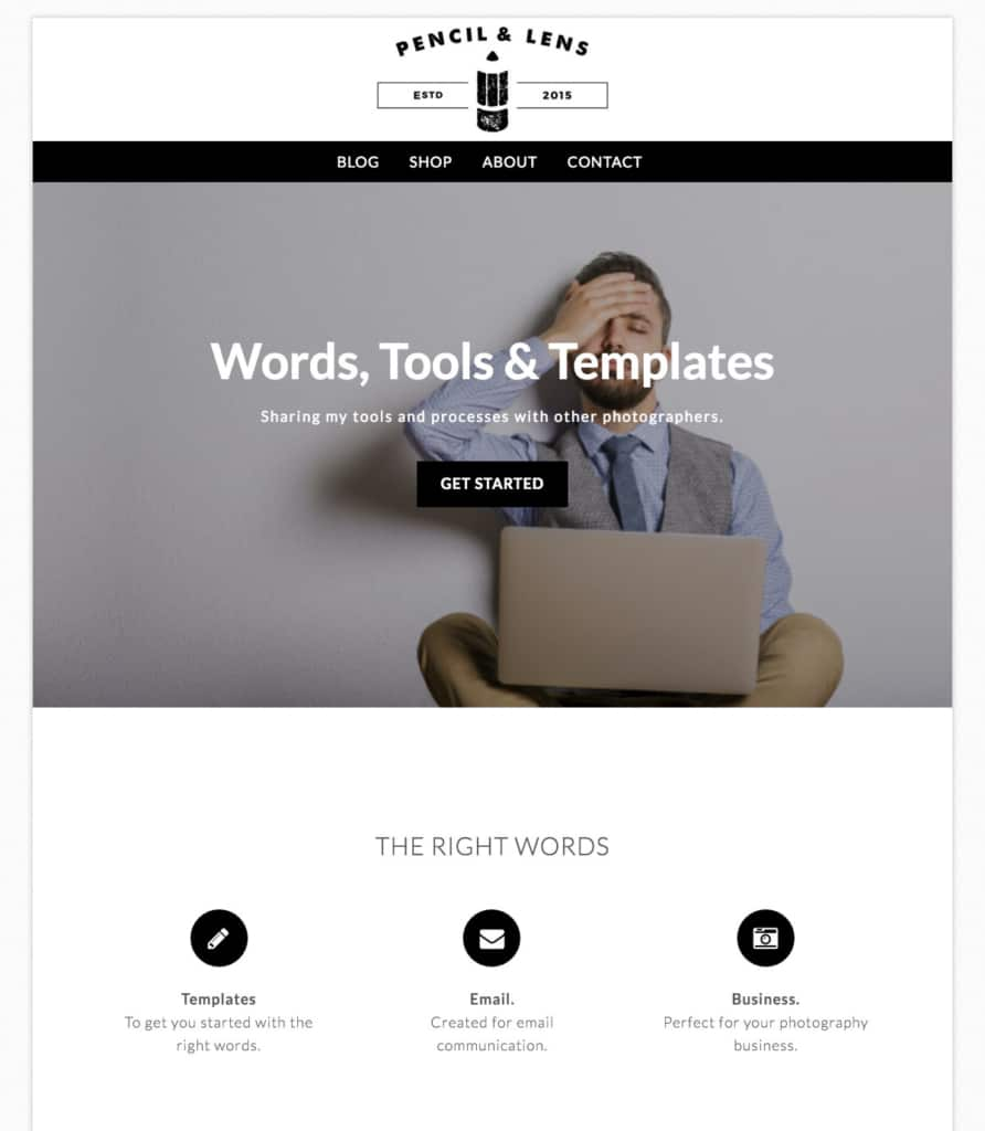 The website on WordPress