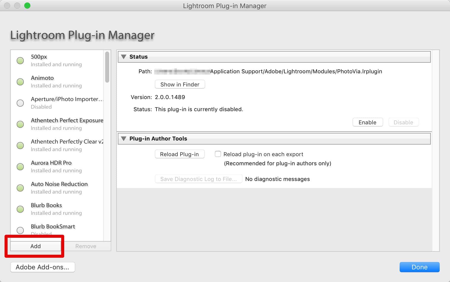 how to get to plugin folder mac