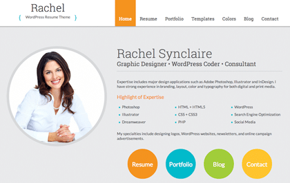 Rachel-WordPress-Resume-Theme