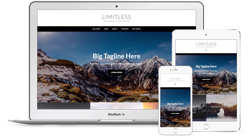 Limitless - WordPress Photography Theme