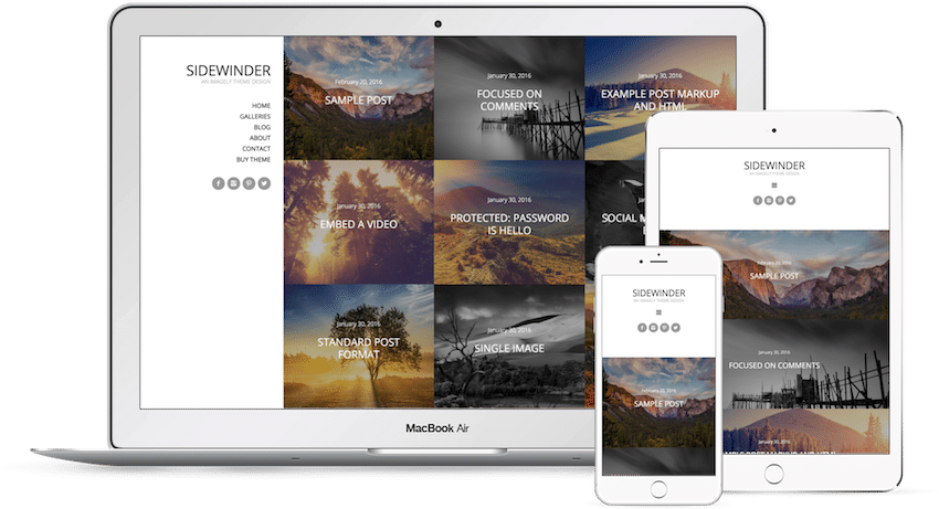Sidewinder - WordPress Photography Theme