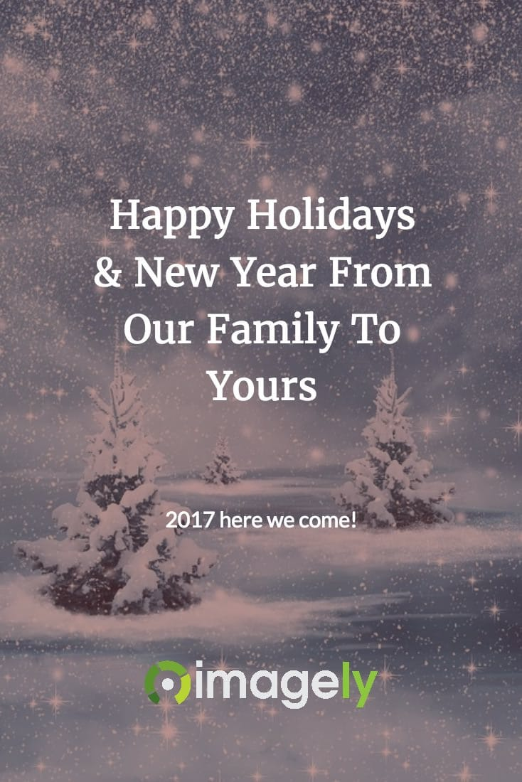 Happy Holidays & New Year From Our Family To Yours
