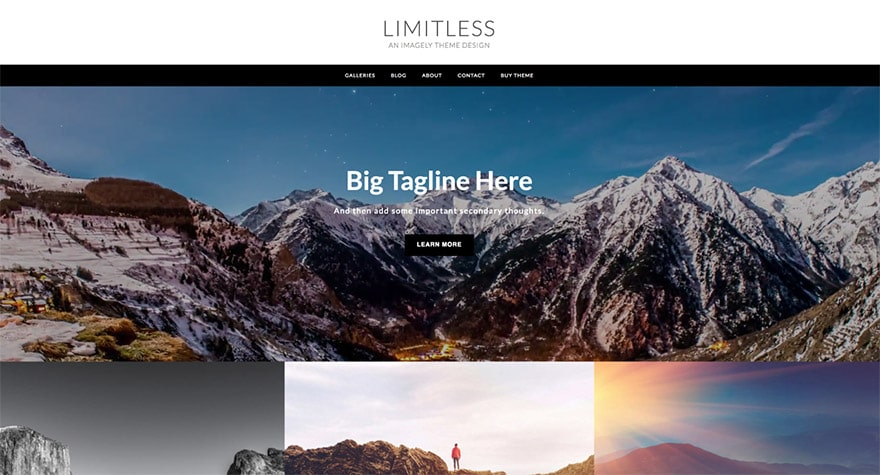 Limitless WordPress Photography Theme