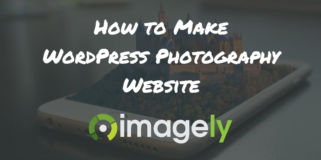 make a photography website free