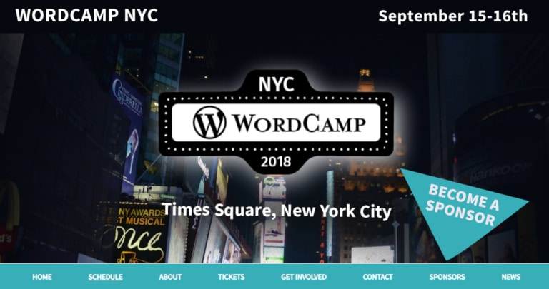 Meet Scott at WordCamp NYC, 2018
