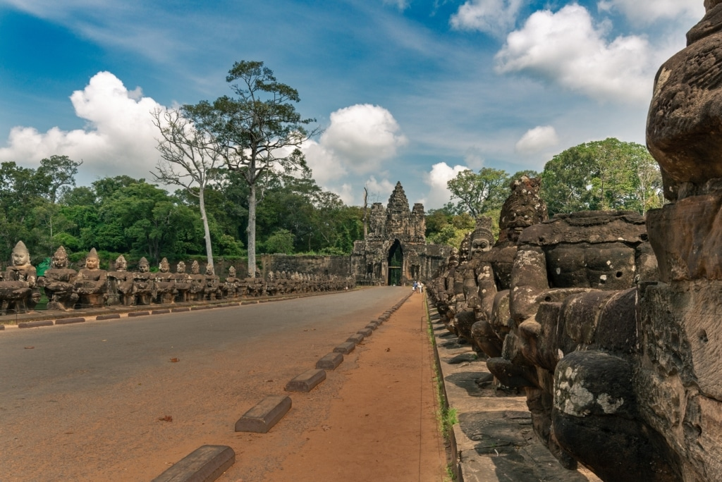 Fig - 5 Entrance to Angkor Thom