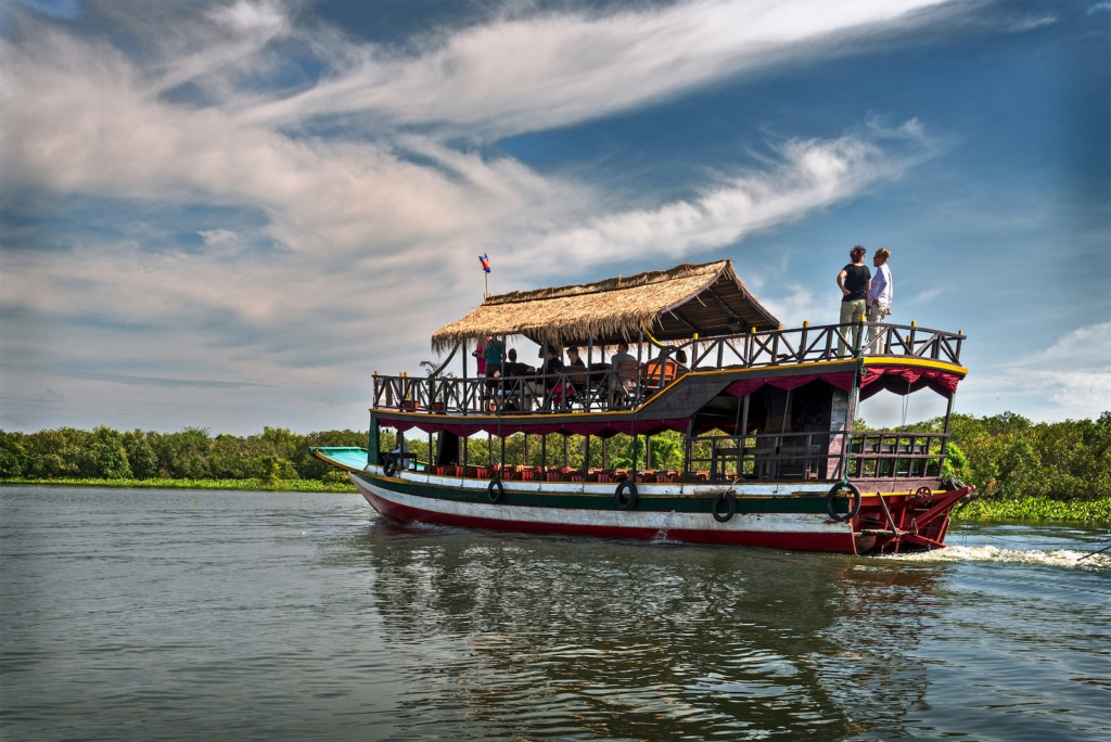Tourist Boat on Tonle Sap Lake