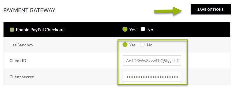 Payment Gateway screenshot. NextGen Gallery Pro Checkout Sandbox Account