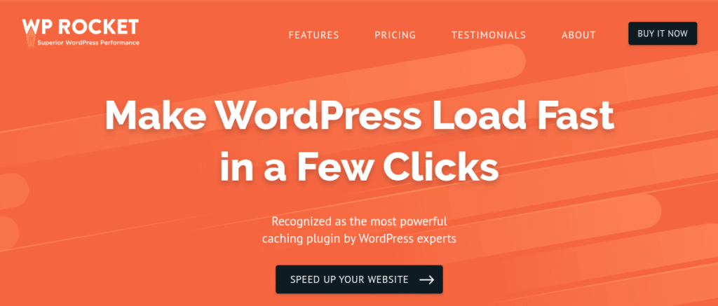 Fortunately, caching plugins can help prevent this. Put simply, these tools save static copies of your site's pages in users' browsers so they can be loaded more quickly on subsequent visits. This is why WP Rocket is a staple for photography sites: