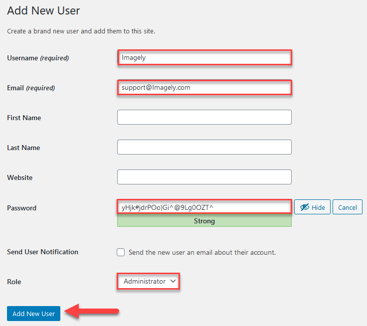 Create WordPress Account