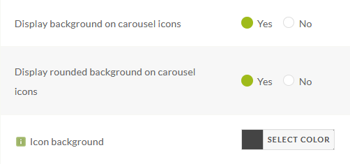 Background carousel color settings