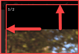 Shows a padding of 15 pixels