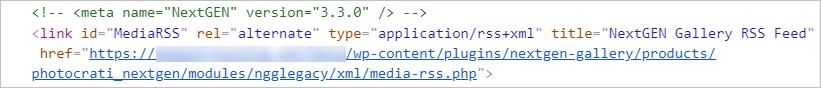 RSS metadata