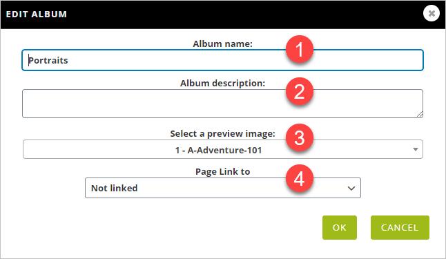 Edit album Detail