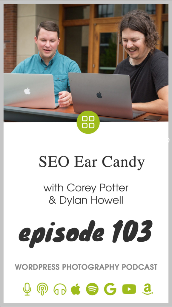 Today Scott talks to Corey Potter and Dylan Howell from Fuel Your Photos. These are two guys who study and implement search engine optimization for the photography industry. Corey has been running a very large SEO Facebook group for many years, and he brought Dylan on as a partner as he has been growing the Fuel Your Photos brand.