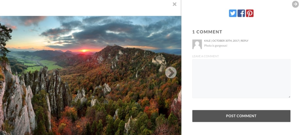 NextGEN Pro is the premium version of NextGEN Gallery, the number-one WordPress photography plugin. It comes with a variety of features and extensions you can use to enhance your photography site, including built-in commenting for image galleries: