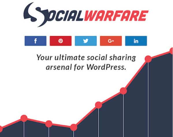 There are also tools such as Social Warfare that enable the sharing of blog posts. This lets you add social media buttons within your blog content, or as an additional menu.