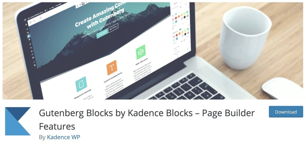 Kadence Blocks adds blocks commonly found in page builder plugins. After heavy user testing and code reviews, we found Kadence to be the best overall block plugin for any WordPress user.