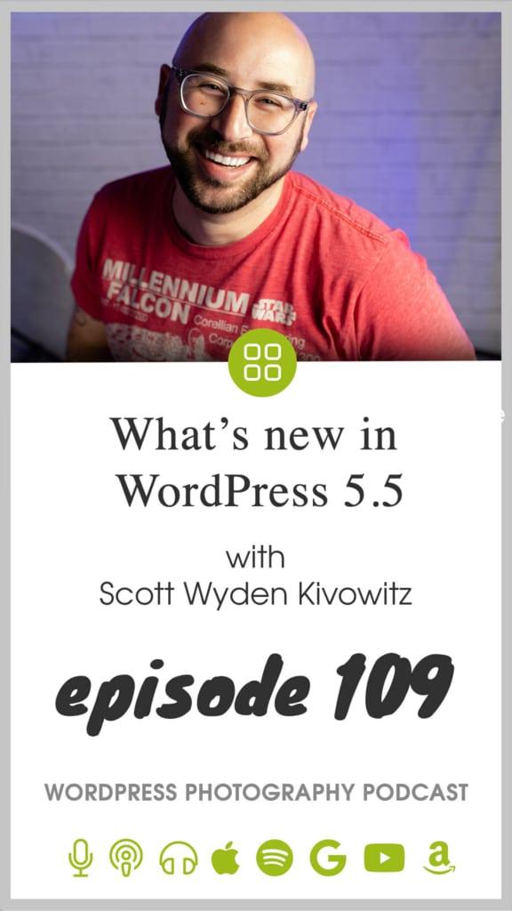 WordPress photography podcast episode 109