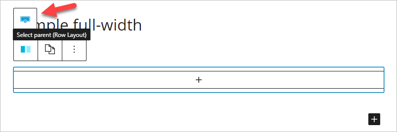 Full width setting