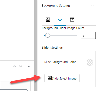 Add slider Select image