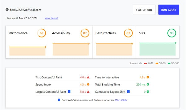 Choose a theme that has a clean code and is SEO-friendly. How would you know if a theme works for you? Simply go to Google's web.dev tool and run your theme's demo prior to purchasing it. It lets you check for any performance or SEO issues.