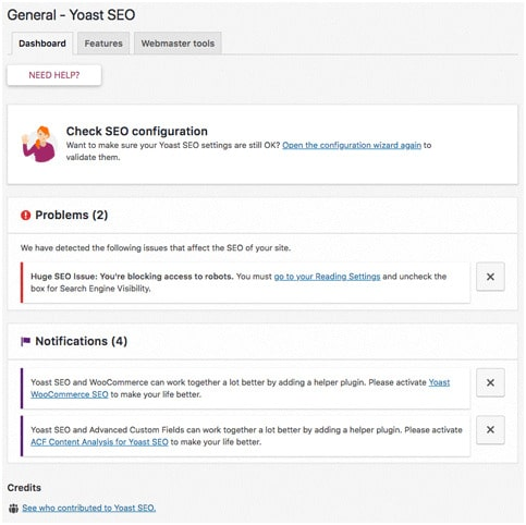 For any further optimization that we do, we will need to have an SEO plugin installed. This is important because not all SEO features come by default with WordPress. We recommend using Yoast SEO because it is free and is as good as any premium plugin. Yoast SEO adds many new functions and features to the website.