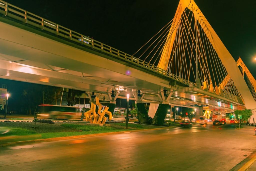 Illuminated Road Bridge